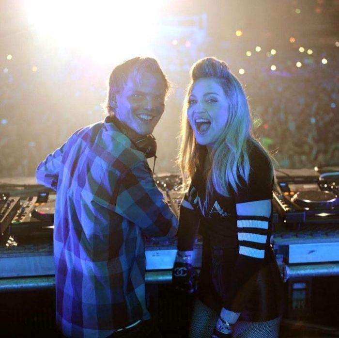 DJ-ul AVICII alături de Madonna