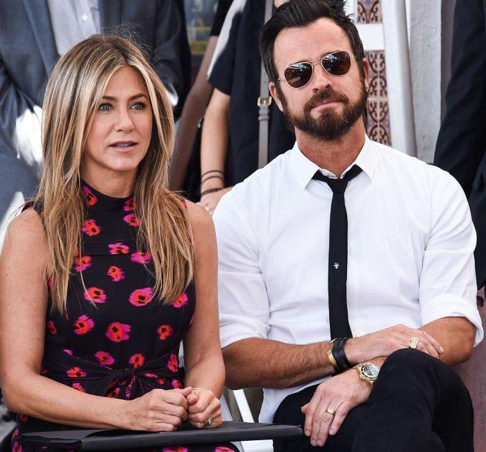 Justin Theroux și fostul ei soț Justin Theroux