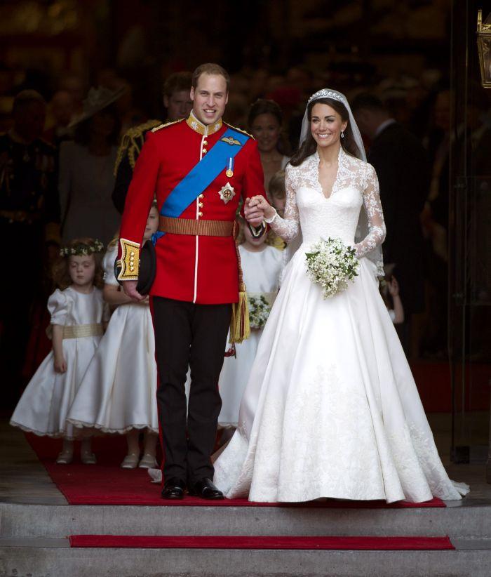 Kate Middleton și Prințul William, în ziua nunții lor (29 aprilie 2011)
