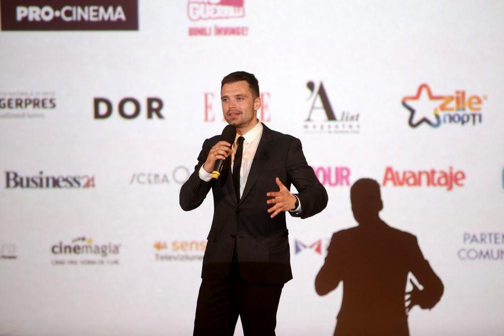 Sebastian Stan în România. Actorul a susținut o conferință de presa la Cinema Pro