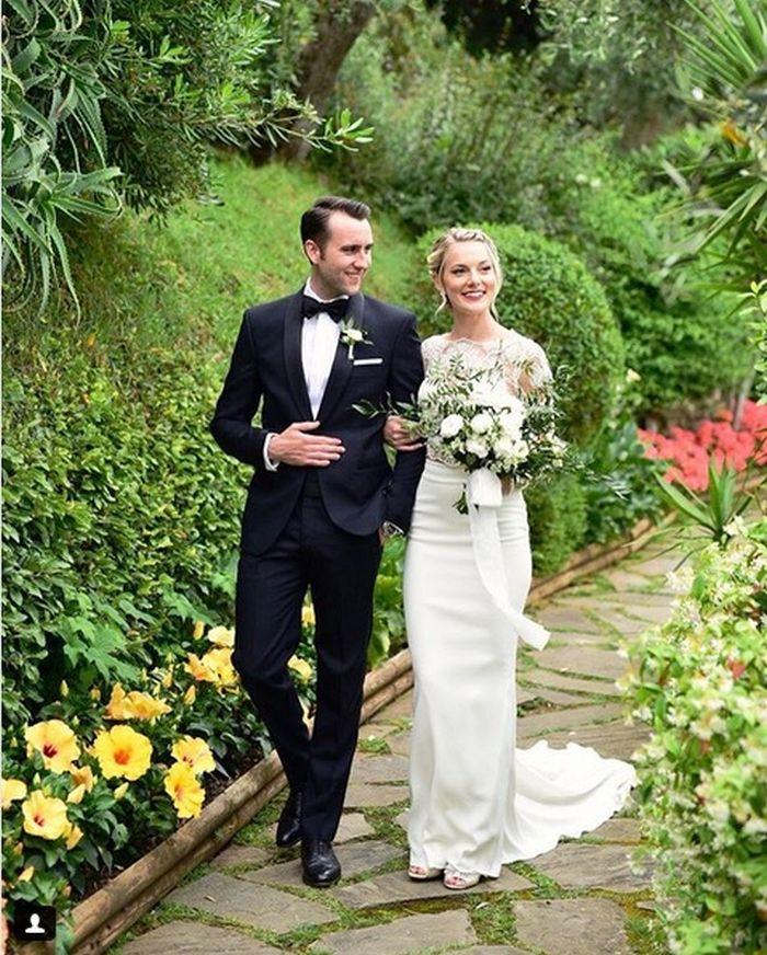 Matthew Lewis și Angela Jones s-au căsătorit weekendul trecut.