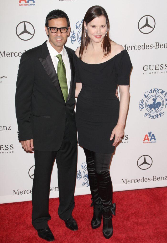 Geena Davis și soțul ei Reza Jarrahi, pe vremea când erau fericiți (2008).