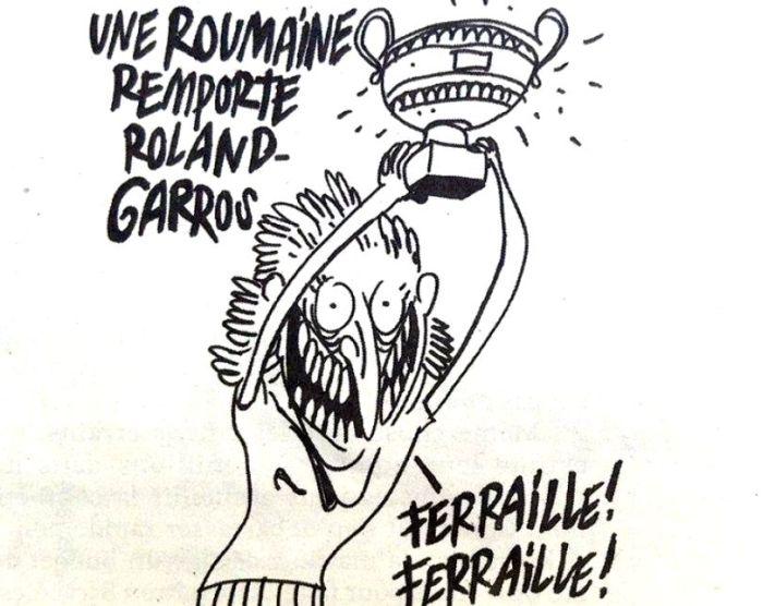 Caricatura cu Simona Halep din Charlie Hebdo