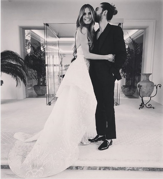 Heidi Klum și iubitul ei Tom Kaulitz, cu 17 ani mai tânăr ca ea.