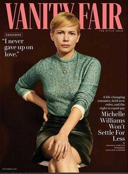 Michelle Williams spus că s-a căsătorit în secret în interviul pentru revista Vanity Fair, pe a cărei copertă a apărut în luna iulie.