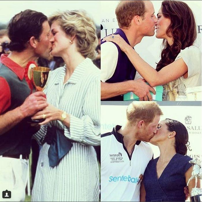 Săruturile faimoase din familia regală.