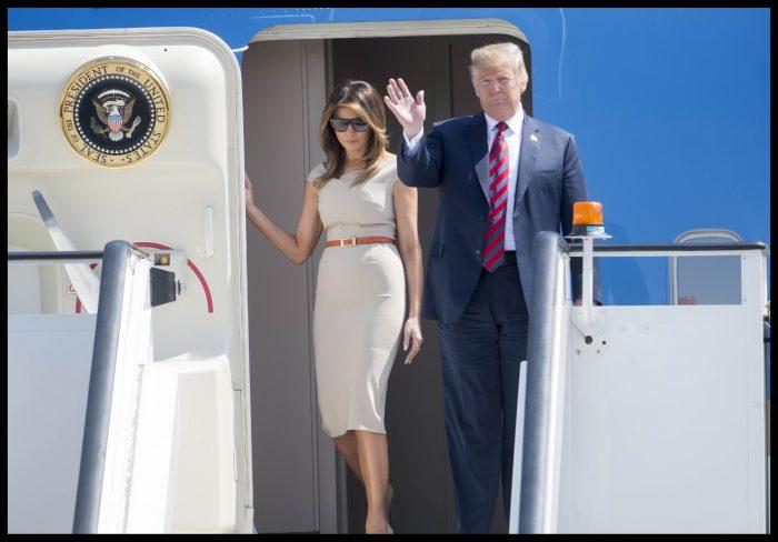La sosirea în Anglia, Melania Trump arăta exact ca Meghan Markle.