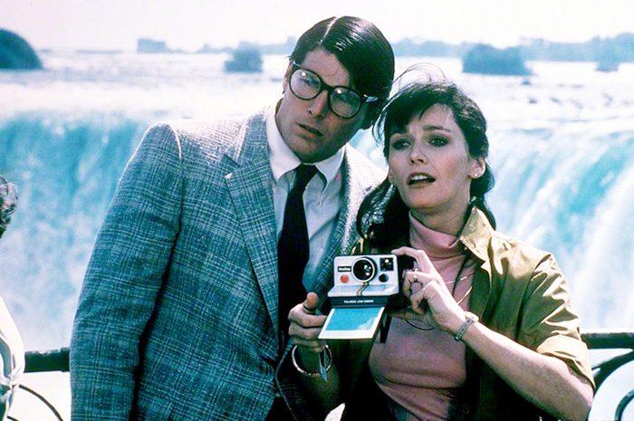 """Margot Kidder alături de Christopher Reeve. Secvență din filmul """"Superman"""" (1980)."""
