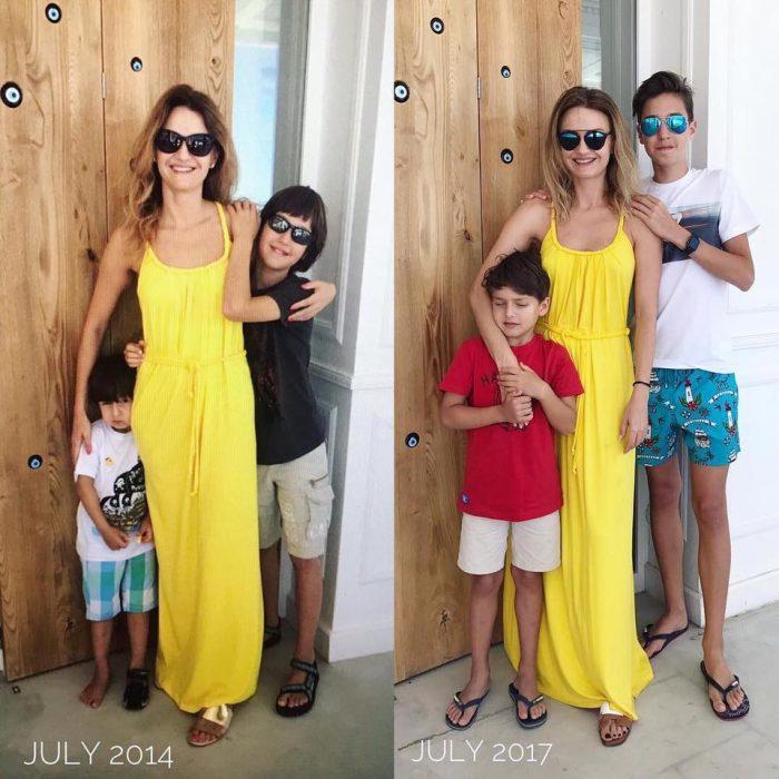 Dana Războiu și copiii ei