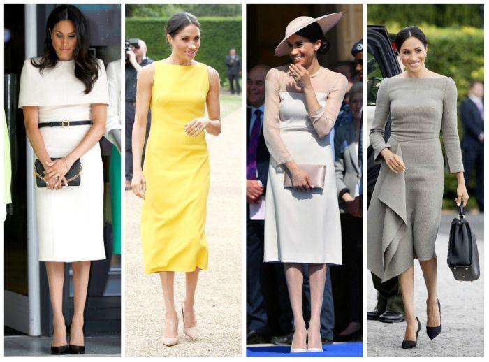 Deși este extrem de suplă, Meghan este dovada vie că nici măcar femeilor cu mărimi de fotomodel nu li se potrivește orice fel de rochie...