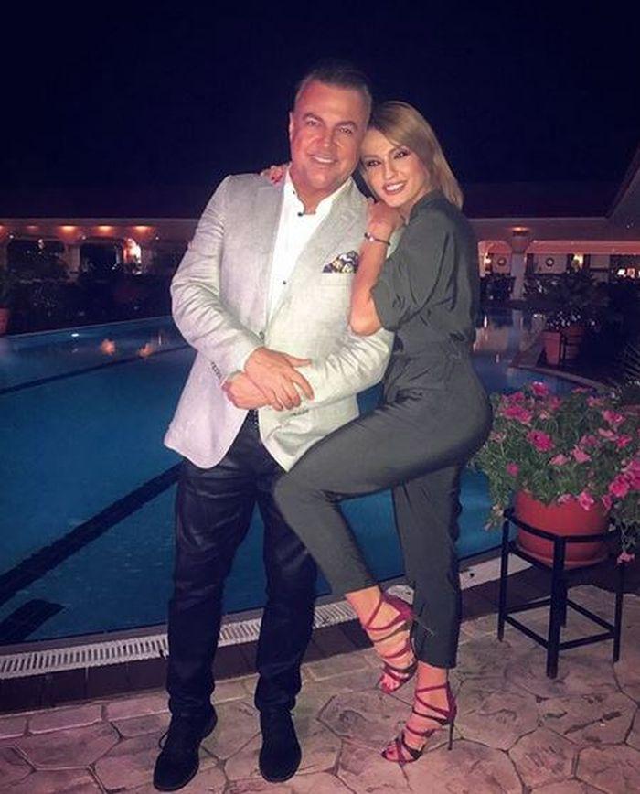 Diana împreună cu celebrul său tată, Adrian Enache