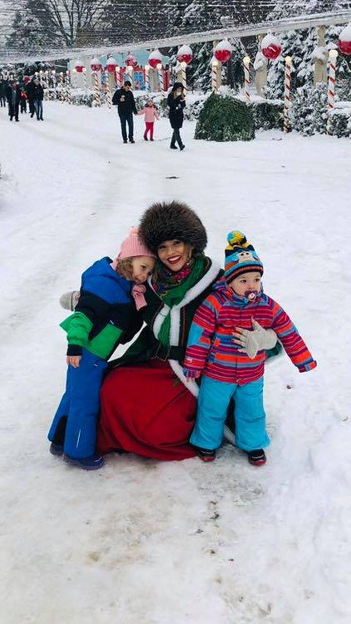 Mirela Vaida și copiii