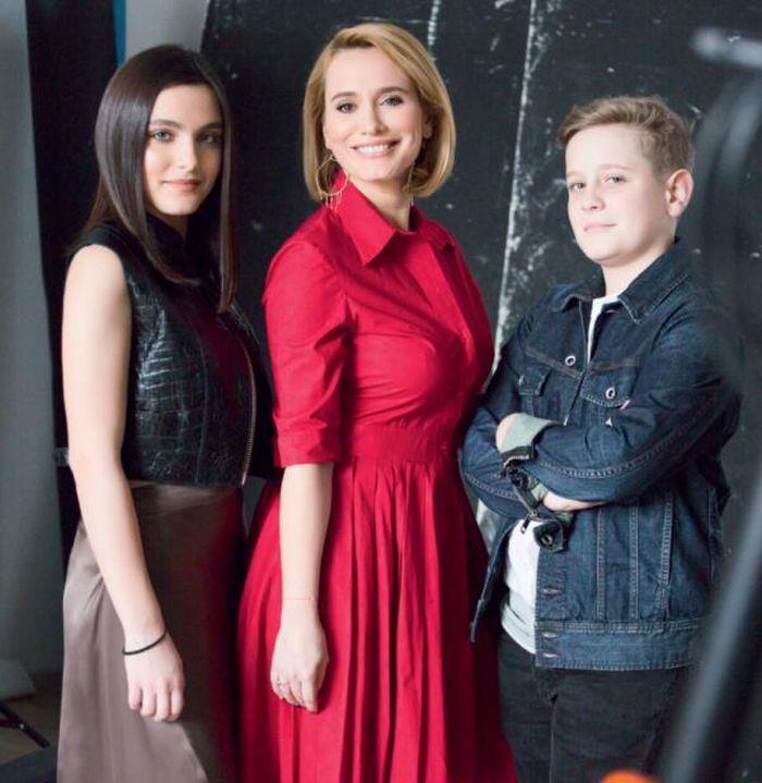 Andreea Esca și cei doi copii