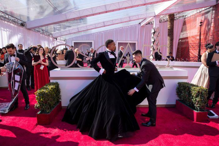 Billy Porter în ținuta sa Christiano Siriano la Oscar 2019