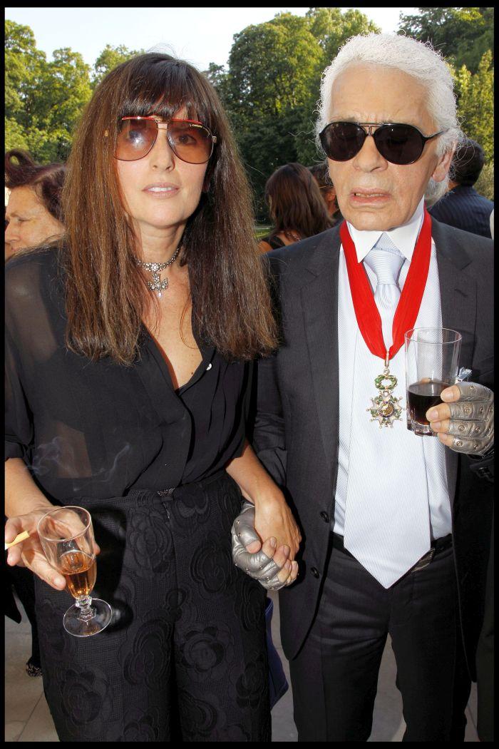 Virginie Viard și Karl Lagerfeld