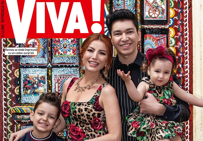 Elena Gheorghe si familia VIVA de aprilie 5