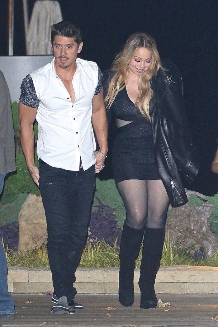 Mariah Careyși iubitul ei Bryan Tanaka, în 2017.