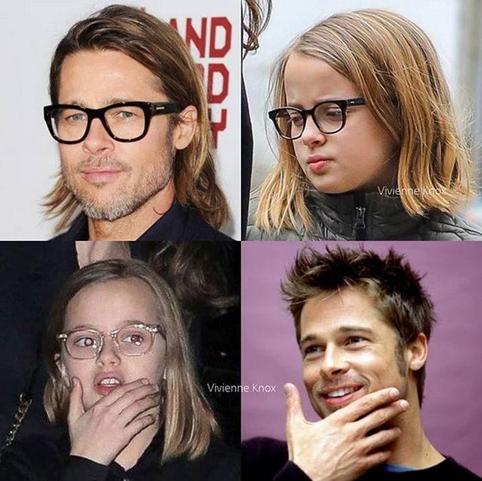 Vivienne seamănă cu tatăl ei inclusiv la gesturi.