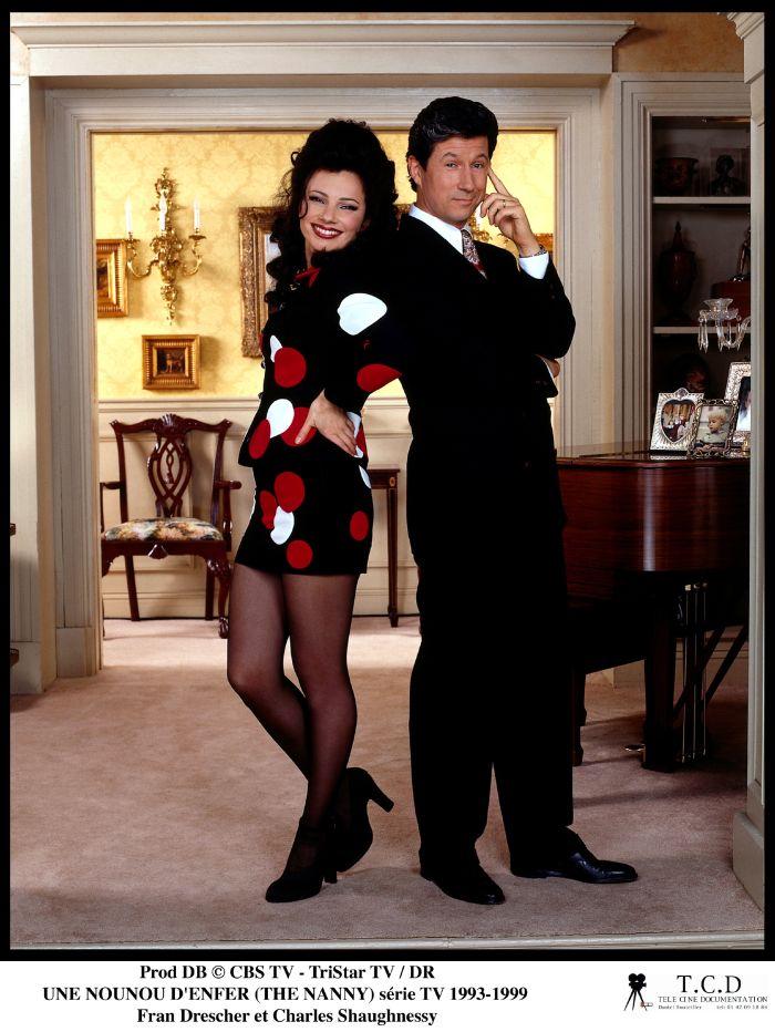Fran Drescher, alături de partenerul ei din serial, Charles Shaughnessy.