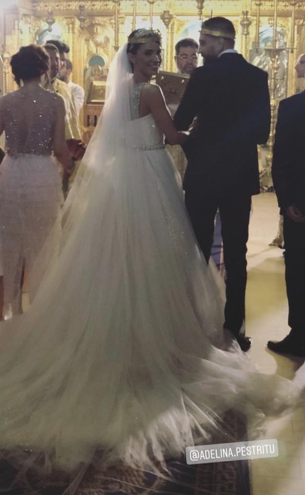 Imagini de la nunta Adelinei Pestrițu