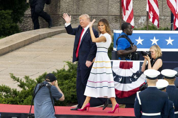 Melania și Donald Trump, de Ziua Americii