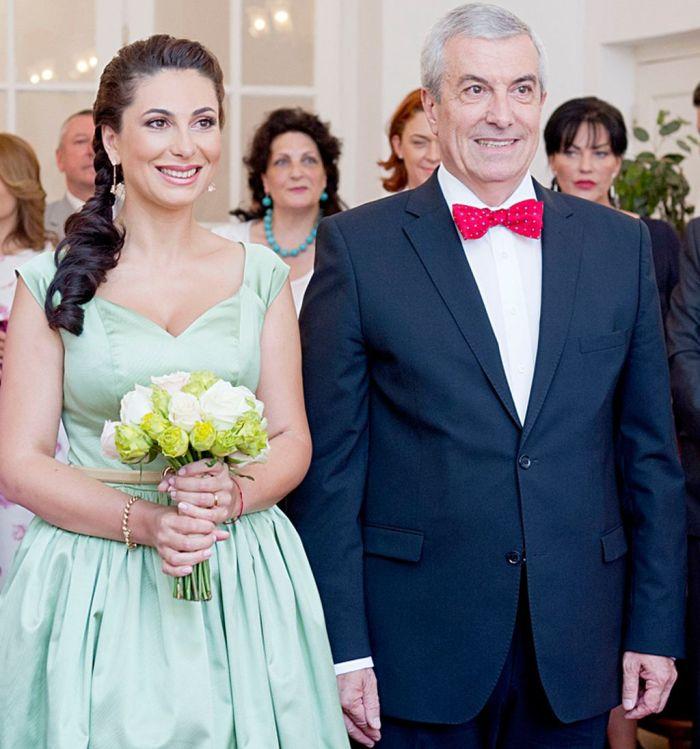 Călin Popescu Tăriceanu, în ziua cununiei cu cea de-a cincea soție, Loredana Moise