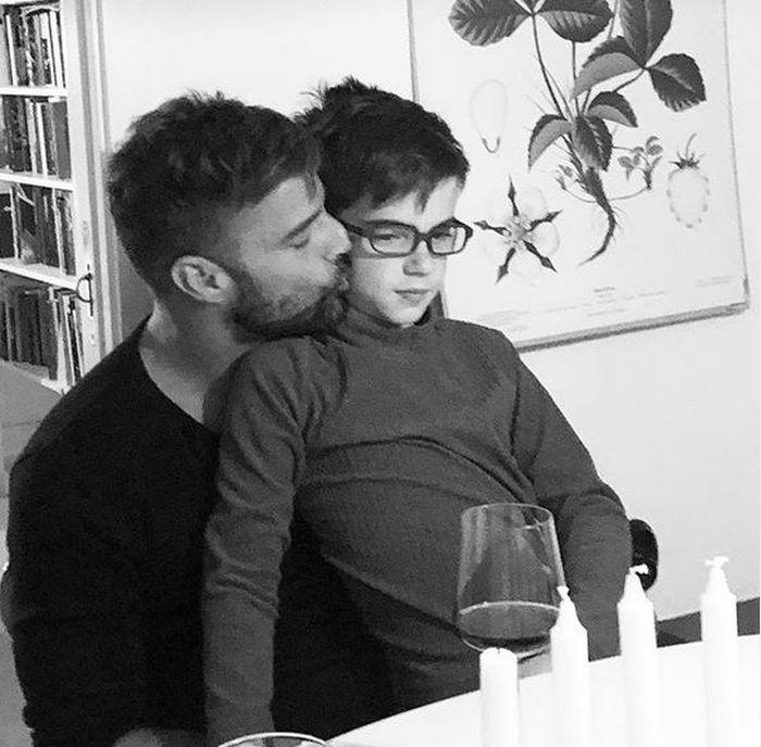 Ricky Martin și fiul său, Valentino
