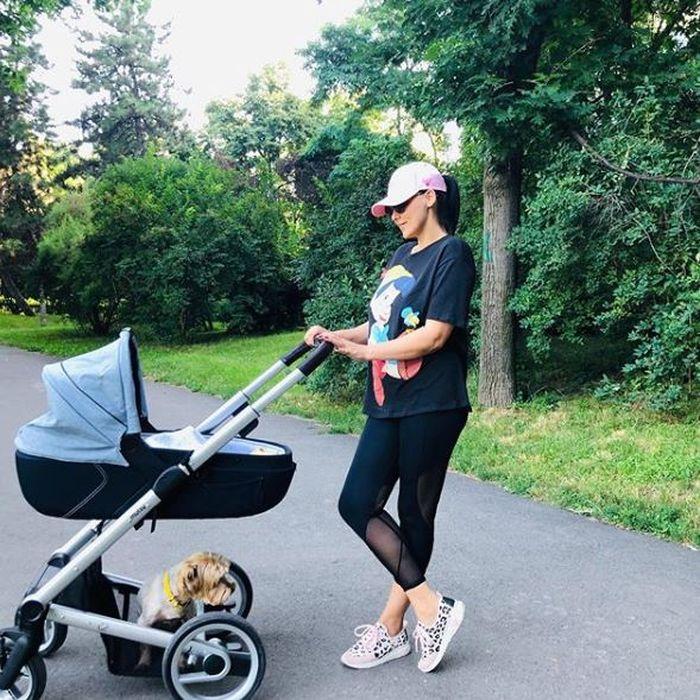 Lavinia Pîrva, în parc cu Alexandru