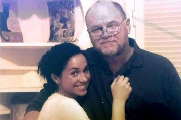 Meghan Markle, alături de tatăl ei, pe vremea când relațiile dintre ei nu se răciseră.