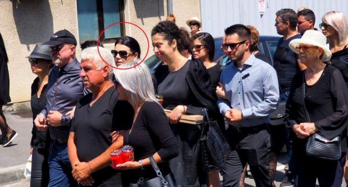Raluca, fosta soție a lui Marcel Toader, a venit la înmormântare