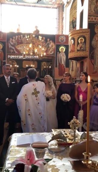 Andreea Bălan și George Burcea, primele imagini de la biserică