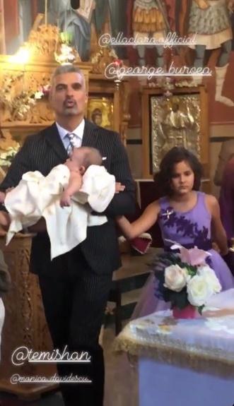 Imagini de la botezul micuței Clara