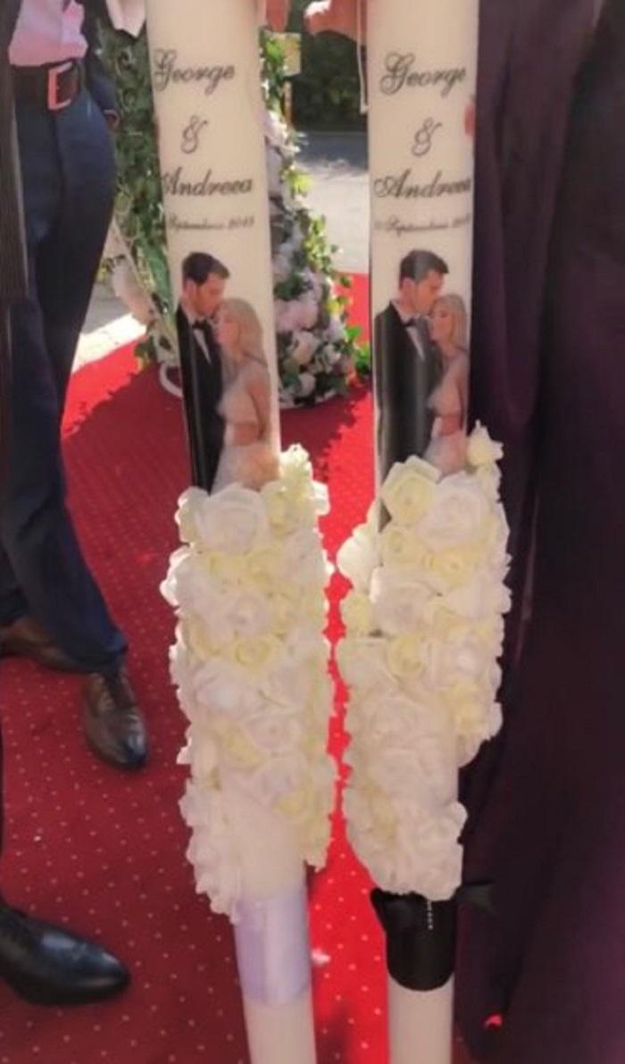 Lumânările de la nunta Andreei Bălan