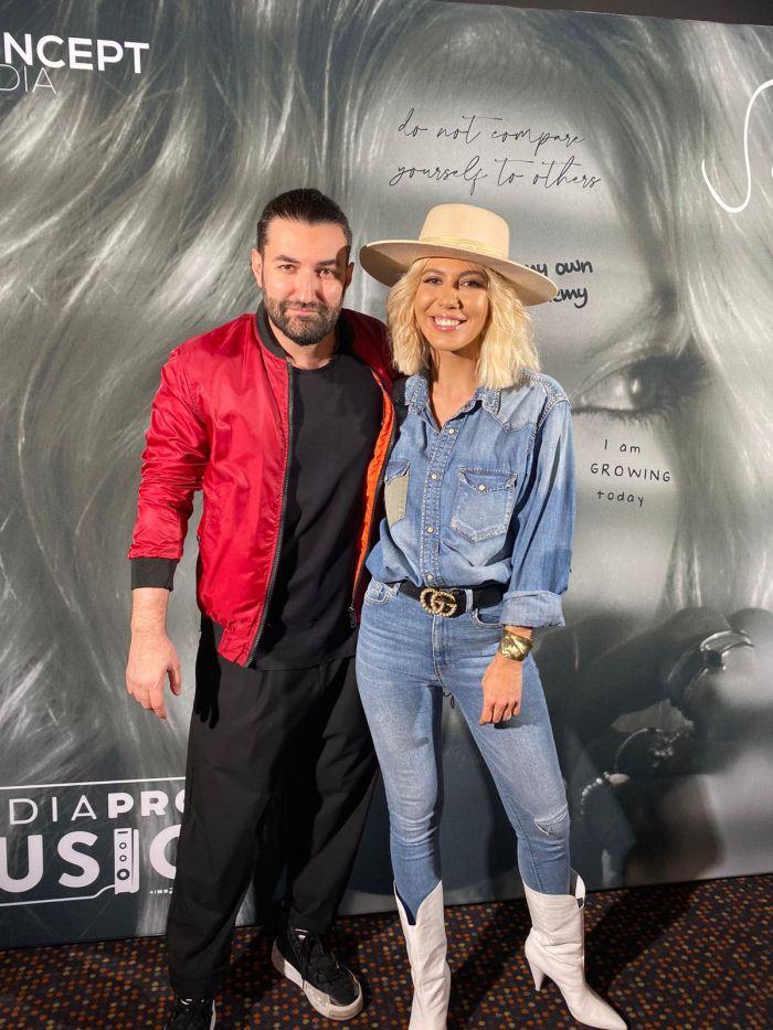 Sore și Smiley, la evenimentul de lansare a videoclipului regizat de artistă