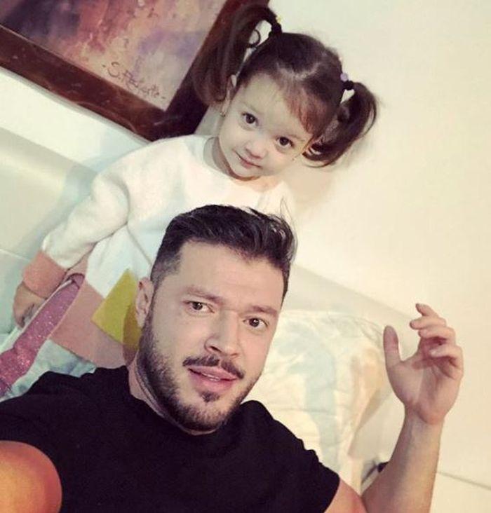 Victor Slav și fetița lui