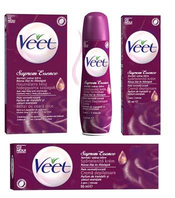 Noua gama Supreme Essence de la Veet pentru depilare