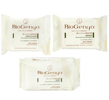 Gama de servetele umede BioGenya, cu ingrediente din culturi organice