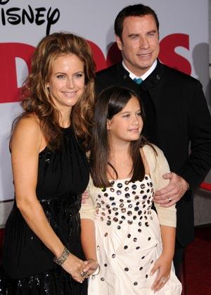 Kelly preston, John Travolta, Ella Bleu