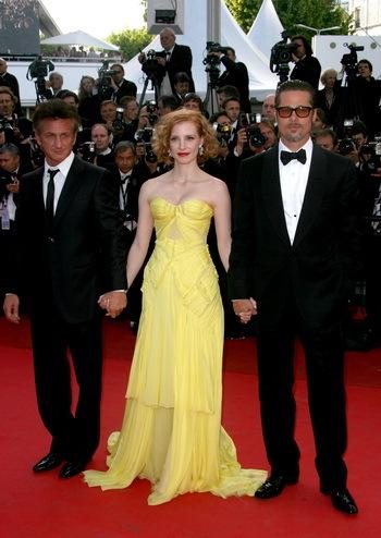 Sean Penn, Jessica Chastain, Brad Pitt