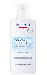 Noua lotiune de corp AQUAporin ACTIVE Rich de la Eucerin