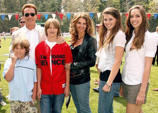 Arnold Schwarzenegger, familie