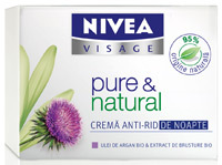Crema anti-rid de noapte NIVEA VISAGE pure & natural