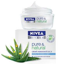 Crema de zi NIVEA VISAGE pure & natural pentru ten normal si mixt