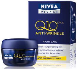 Crema de noapte antirid NIVEA VISAGE Q10 Plus