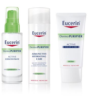 Gama dermatologica DermoPURIFYER de la Eucerin, pentru  ten acneic