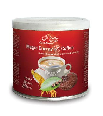 Noua cafea BIO Magic Energy - energie sanatoasa prin delicioasa cafea cu Ganoderma si Ginseng