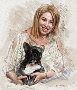 Oana Roman, caricatura
