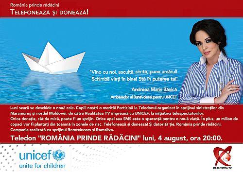 Andreea Marin Banica, teledon