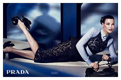 Linda Evangelista, Prada 2008-2009