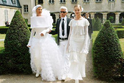 Karl Lagerfeld, Linda Evangelista, Natalia Vodianova.